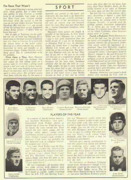 College Football Players-of-the-Year Article – Leon Hart, Jack Jensen (1948)