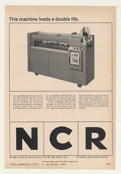 NCR 406 Sorter Machine (1964)