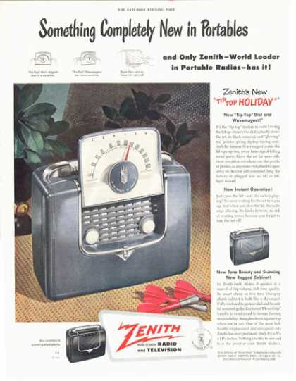 Zenith Portable Tip Top Radio Holiday (1949)