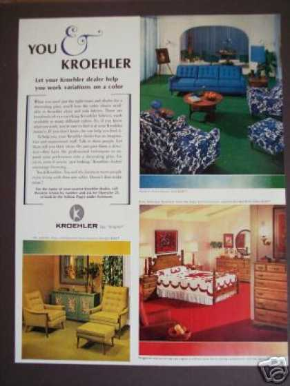 Original Kroehler Avant Furniture Retro Decor (1966)