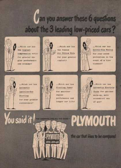 You Said It Plymouth Car (1949)