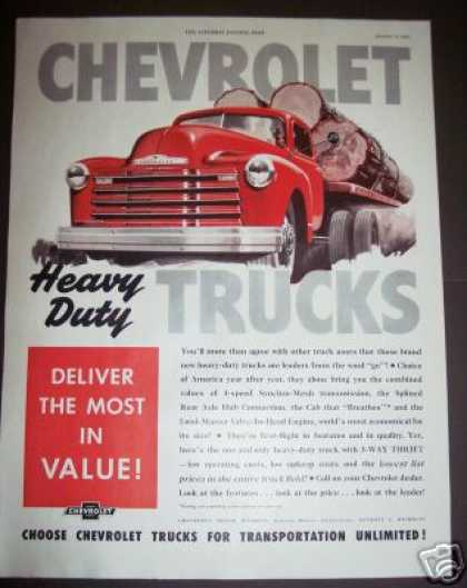 Chevy Chevrolet Heavy Duty Log Truck (1949)