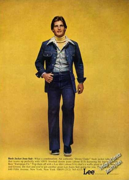 Lee Bush Jacket Jean Suit Photo Fashion (1975)