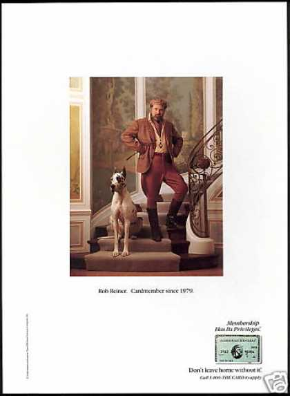 Rob Reiner Great Dane Dog American Express (1990)