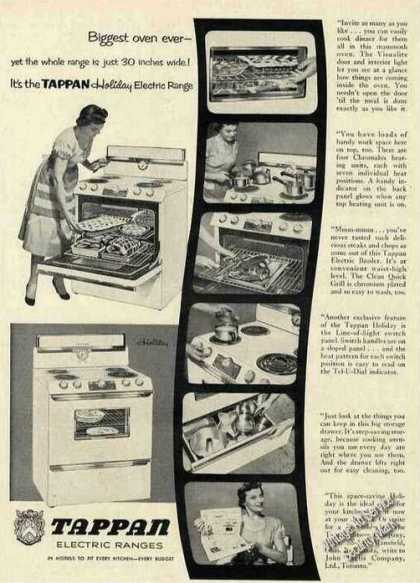 Tappan Holiday Electric Range (1953)