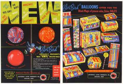 National Latex Products Blue Bird Ball Balloons (1954)