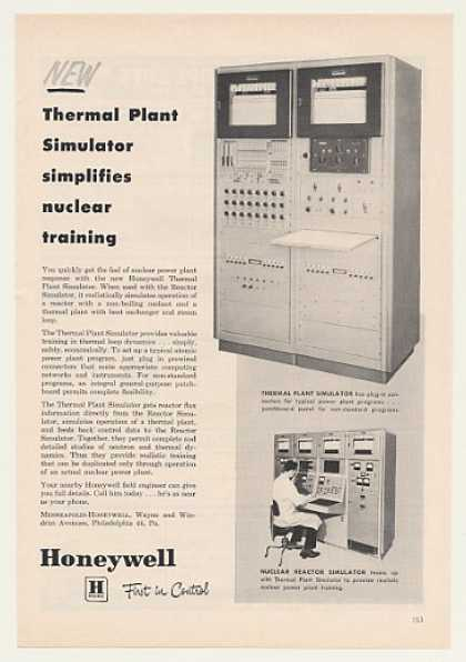 Honeywell Nuclear Power Thermal Plant Simulator (1959)