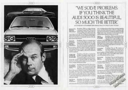 "Audi 5000 ""We Solve Problems"" Herbert Brockhaus (1978)"