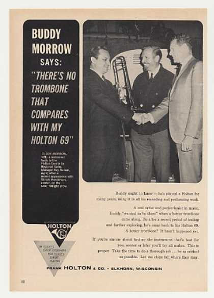 Buddy Morrow Holton 69 Trombone Photo (1964)