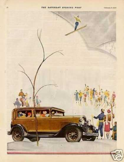 Oldsmobile Car Color Ad 2 Page (1930)
