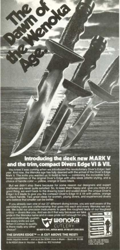 Wenoka Mark V Scuba Diver Diving Knives (1978)