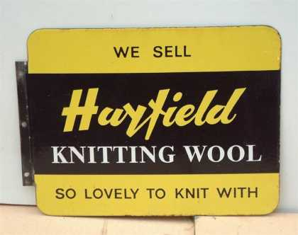 Hayfield Knitting Wool 2 sided sign