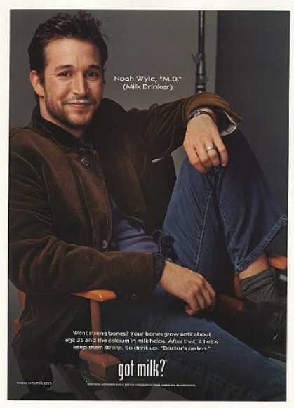 Noah Wyle Got Milk? Mustache Photo (2001)