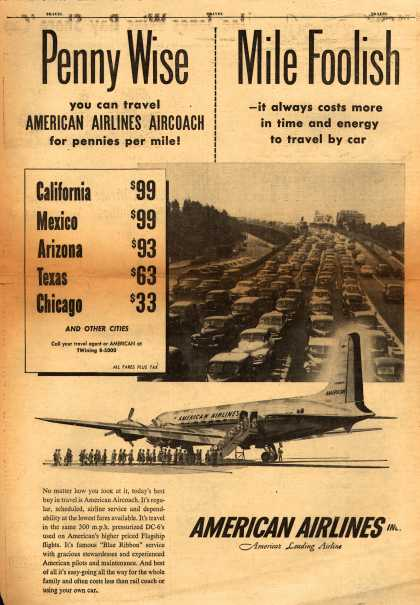 American Airlines – Penny Wise, Mile Foolish (1954)