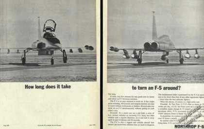 How Long To Turn an F-5 Around? Northrop (1966)