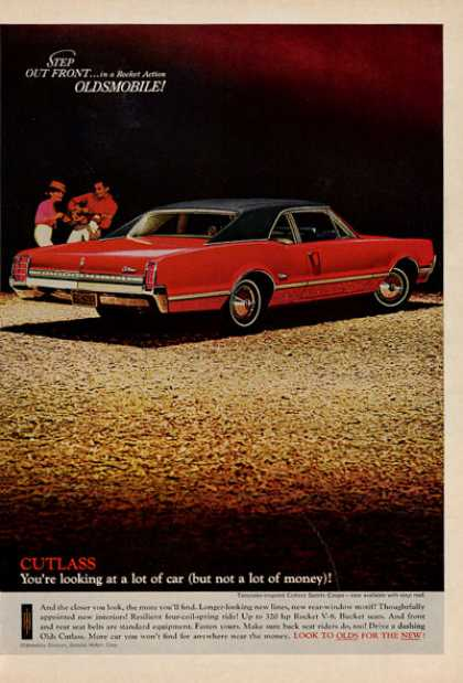 Olds Oldsmobille Cutlass Sports Coupe Print (1966)