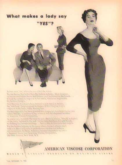 American Viscose – A lady say YES? – Sold (1952)