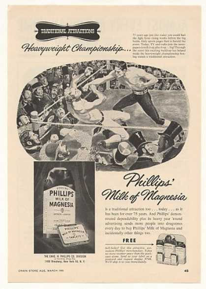Heavyweight Boxing Phillips Milk of Magnesia (1955)