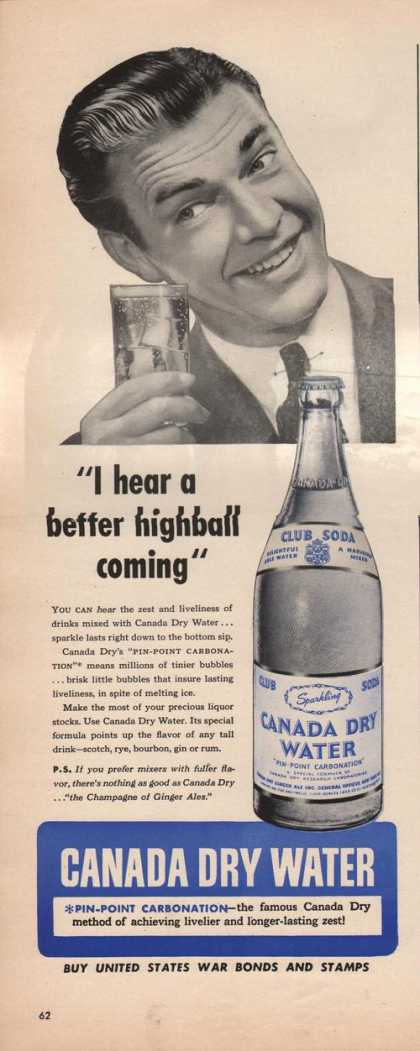 Canada Dry Club Soda Water (1942)