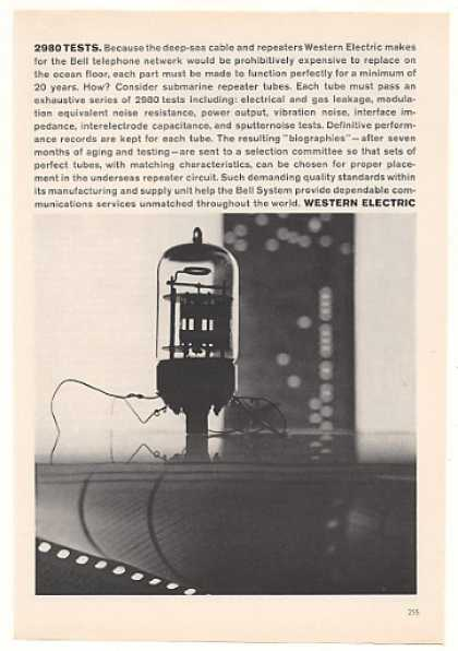 Western Electric Submarine Repeater Tube (1963)