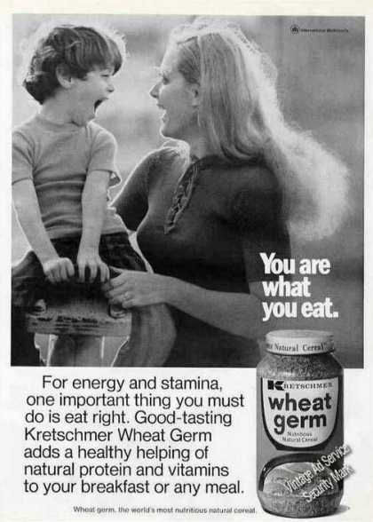 """You Are What You Eat"" Kretschmer Wheat Germ (1973)"