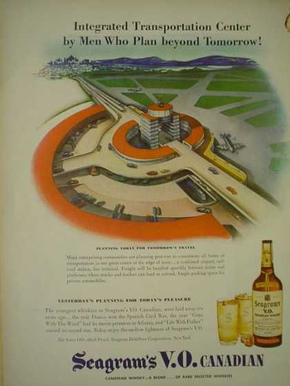 Seagrams VO Canadian Whiskey Men who plan beyond tomorrow (1945)