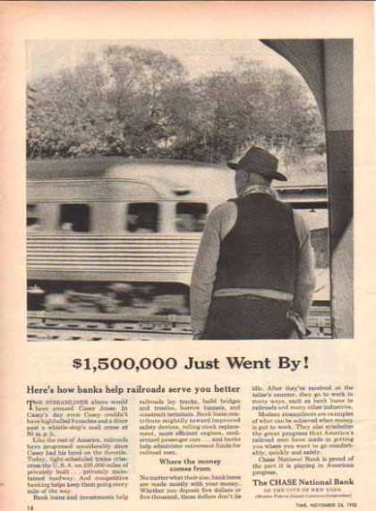 Chase Manhattan Bank – $1,500,000 Streamliner (1952)