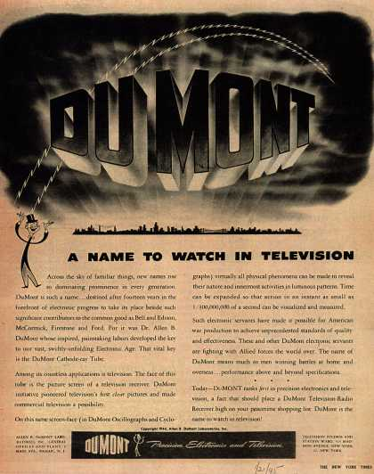 Allen B. DuMont Laboratorie's Television – DuMont, A Name to Watch in Television (1945)