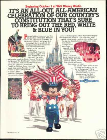 Mickey Mouse Walt Disney World Bicentennial (1987)