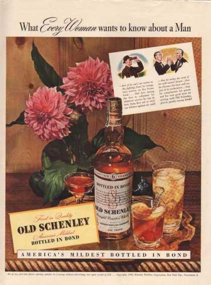 Every Woman About a Man Old Schenley Whisk (1942)