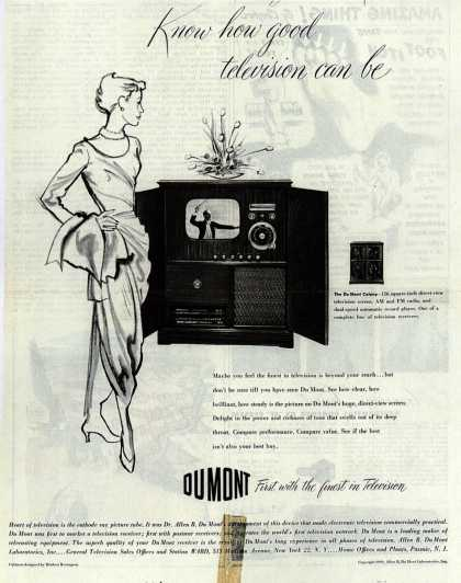 Allen B. DuMont Laboratorie's The DuMont Colony – Know how good television can be (1949)