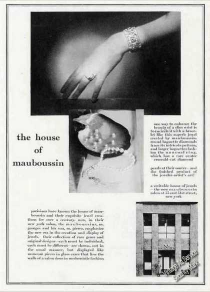 House of Mauboussin 33 E 51st Nyc Ny Jewelry (1930)