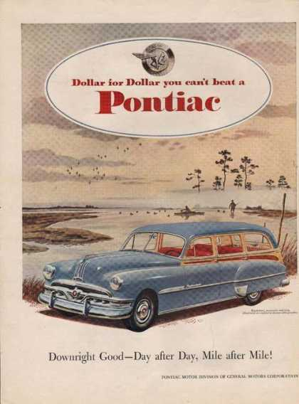Dollar for Dollar Blue Pontiac Car Print A (1951)