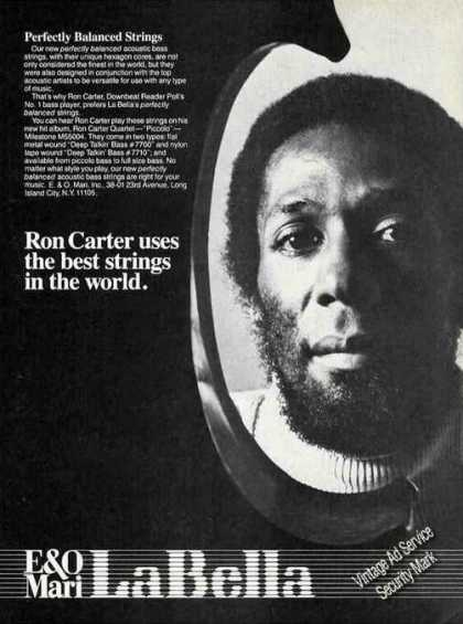 Ron Carter Photo Bass Player Labella Strings (1978)