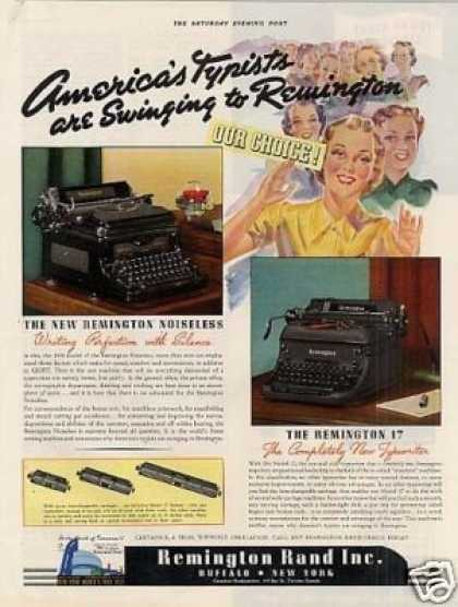 Remington Rand Typewriter Color (1939)