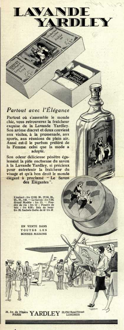 Yardley & Co., Ltd.'s Yardley's Old English Lavender – Lavande Yardley (1931)