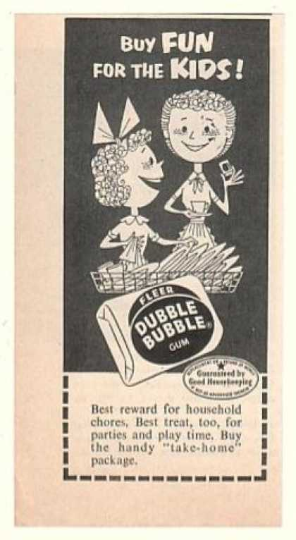 Fleer Dubble Bubble Gum Fun for Kids (1954)
