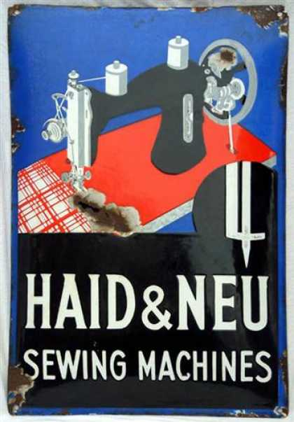 Haid & Neu Sewing Machines Sign
