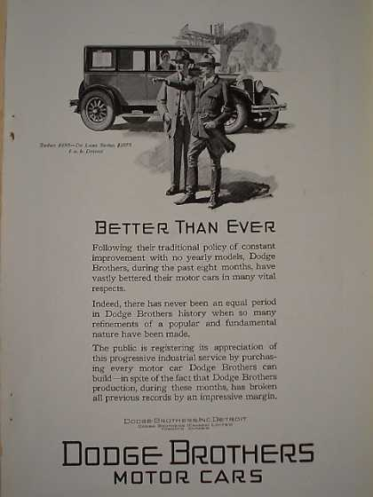 Dodge Brothers Bros motor cars Better than ever (1926)