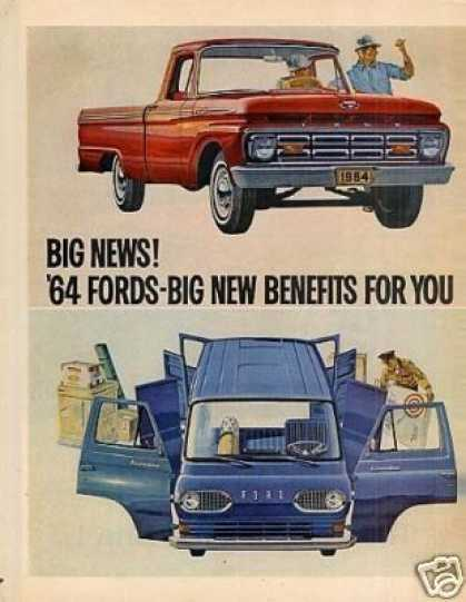 Ford Trucks Ad 2 Page (1964)