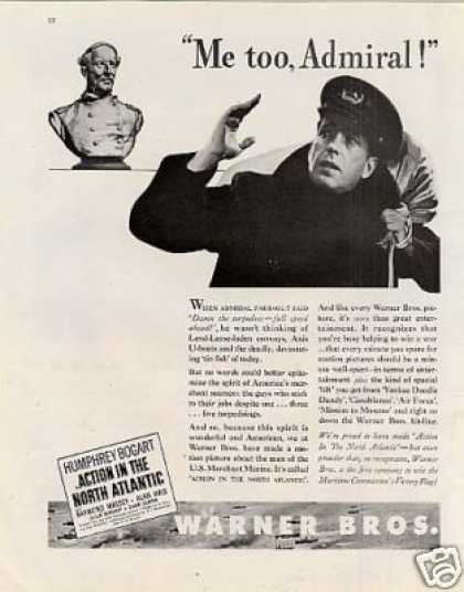 """Movie Ad """"Action In the North Atlantic"""" (1943)"""