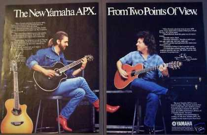 Yamaha Apx Guitar Steve Lukather 2-page Music (1987)