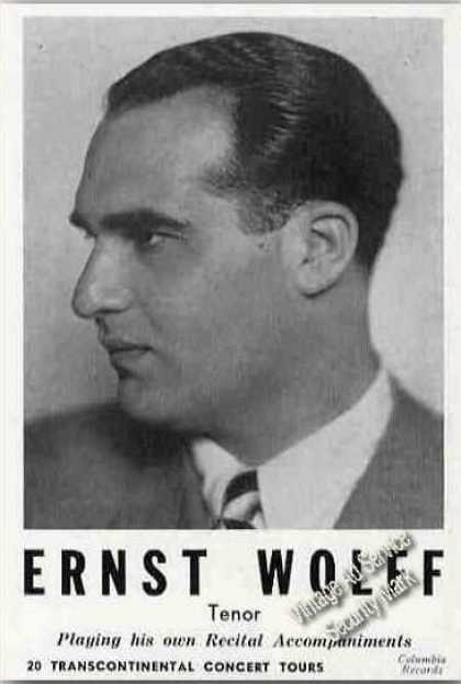Ernst Wolff Photo Tenor Trade (1945)