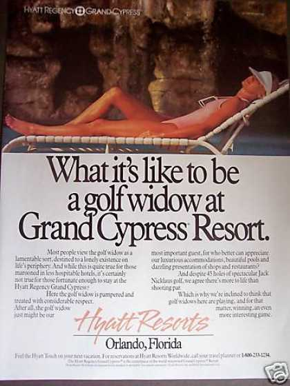 Hyatt Grand Cypress Resort Fl Golf Widow Photo (1989)