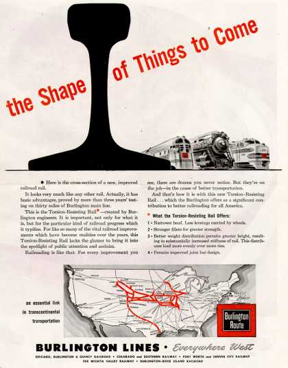Burlington Lines – The Shape of Things to Come (1945)