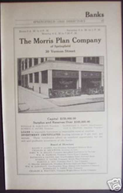 The Morris Plan Co , Loans Ma Bank Banking (1922)