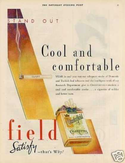 Chesterfield Cigarettes Color Ad 2 Page (1931)