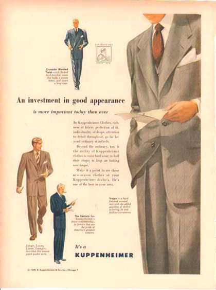 Kuppenheimer Fashion – 3 Suits (1949)