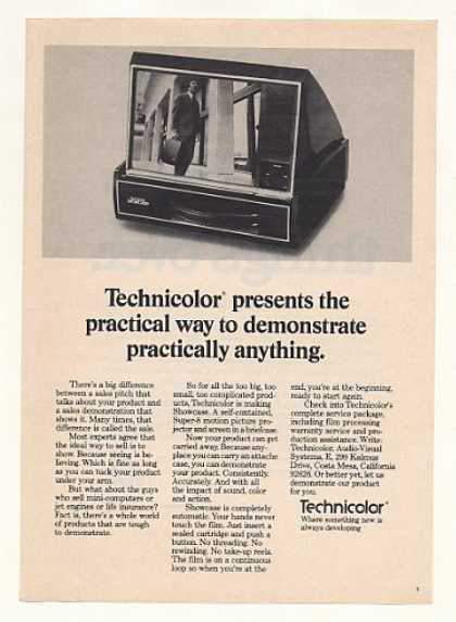 Technicolor Showcase Super-8 Projector Screen (1974)