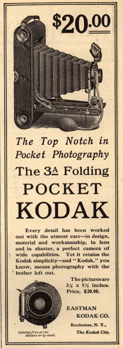 Kodak – The 3a Folding Pocket Kodak (1908)